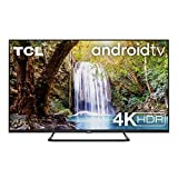 TCL 65EP680 Fernseher 165 cm (65 Zoll) Smart TV (4K UHD, Android TV, Prime Video, HDR 10+, Wide Color Gamut, Micro Dimming Pro, Google Assistant, Alexa kompatibel, Dolby Atmos) Brushed Titanium